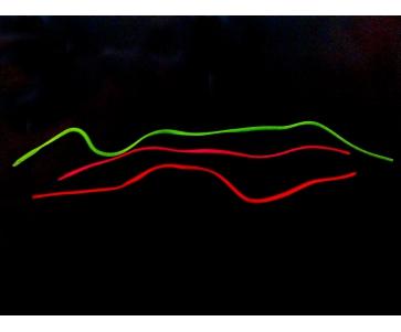 Силиконовый шнур прямоугольного сечения, шнур силиконовый люминесцентный, шнур для декора