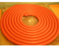 The silicone rubber composition in the form of plaits